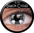 ColourVue Crazy šošovky - Black Cross (2 ks ročné) - nedioptrické