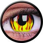ColourVue Crazy šošovky - Flame Hot (2 ks ročné) - nedioptrické