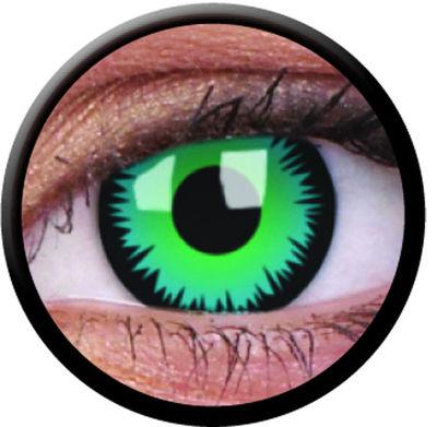 ColourVue Crazy šošovky - Green Werewolf (2 ks ročné) - nedioptrické