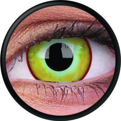 ColourVue Crazy šošovky - Yellow Plague (2 ks ročné) - nedioptrické