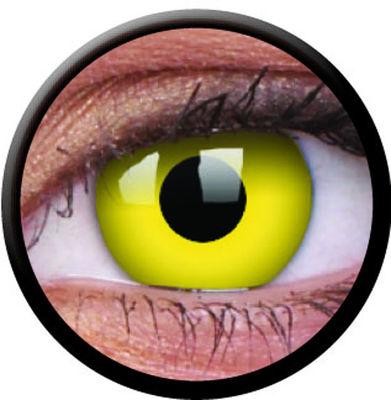 ColourVue Crazy šošovky - Yellow (2 ks ročné) - nedioptrické