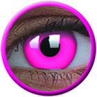 ColourVue Crazy šošovky UV svietiace - Glow Pink (2 ks ročné) - nedioptrické