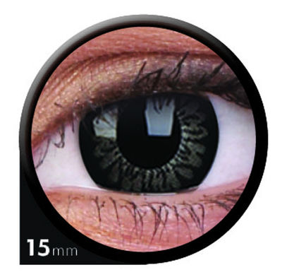 ColourVue Big Eyes - Awesome black (2 šošovky trojmesačné) - dioptrické - dopredaj; výroba ukončená