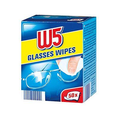 Obrúsky na čistenie okuliarov vlhčené W5 54 kusov