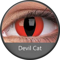 ColourVue Crazy šošovky - Devil Cat (2 ks ročné) - nedioptrické
