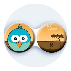 Antibakteriálne puzdro klasické - Afrika - Modrý vták