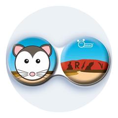 Antibakteriálne puzdro klasické - Austrália - Myš