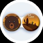 Antibakteriálne puzdro klasické - Divočina - Medveď hnedý