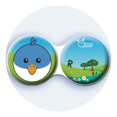 Antibakteriálne puzdro klasické - Farma - Vták modrý