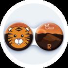 Antibakteriálne puzdro klasické - India - Tiger