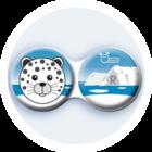 Antibakteriálne puzdro klasické - Sever - Leopard