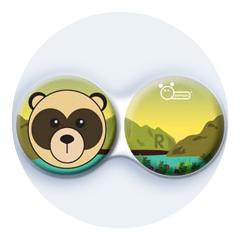 Anitbakteriálne puzdro klasické - ZOO - Medveď