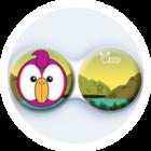 Antibakteriálne puzdro klasické - ZOO - Papagáj ružový