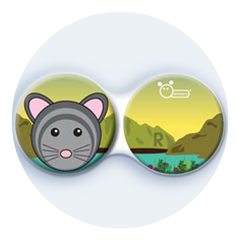 Antibakteriálne puzdro klasické - ZOO - Myš