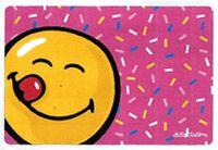 Handričku na okuliare z mikrovlákna Smiley - Ružové