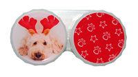 Ozdobné púzdro vianočné - Pes s parohy