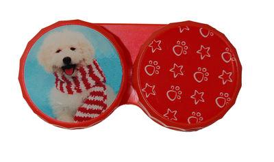 Ozdobné púzdro vianočné - Pes s šálom