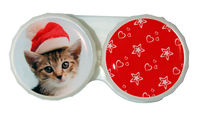 Ozdobné púzdro vianočné - Mačka žíhaná s čiapkou