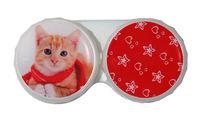 Ozdobné púzdro vianočné - Mačka ryšavá s šálom