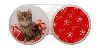Ozdobné púzdro vianočné - Mačiatko na loptách