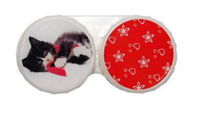 Ozdobné púzdro vianočné - Ležiace mačiatko s šálom