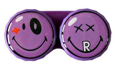 Ozdobné púzdro Smiley - Fialové