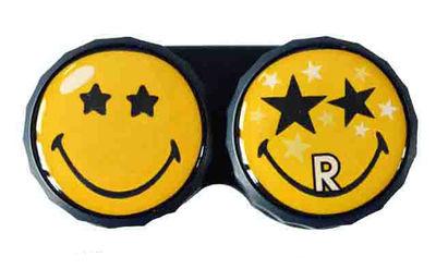 Klasické puzdro Smiley - Čierne hviezdy