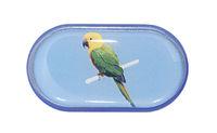 Púzdro so zrkadielkom Jednoobrázkové - Papagáj