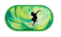 Púzdro so zrkadielkom Tanečný motív - Svetlo zelené