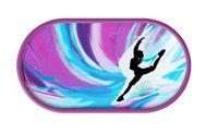 Púzdro so zrkadielkom Tanečný motív - Tmavo fialovej