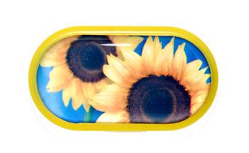 Púzdro so zrkadielkom motív kvety - Slnečnica