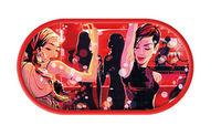 Púzdro so zrkadielkom kreslené motívy - Disco Divas