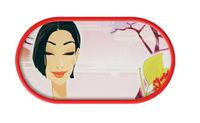 Púzdro so zrkadielkom kreslené motívy - Oriental Calm