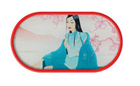 Púzdro so zrkadielkom kreslené motívy - Eastern Serenity