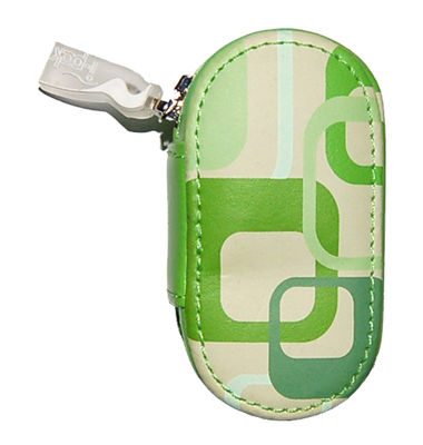 Kožené puzdro s potlačou - Zelené