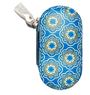 Kožené puzdro s potlačou - Modré