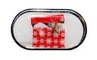 Púzdro so zrkadielkom Vianočný motív - Mačiatko v krabici