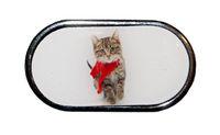 Púzdro so zrkadielkom Vianočný motív - Mačiatko v šále