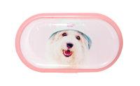 Púzdro so zrkadielkom Psi - Pes v klobúku