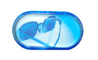 Púzdro so zrkadielkom motív Leto - Modré okuliare