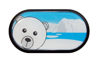 Ozdobné púzdro so zrkadielkom Sever - Ľadový Medveď