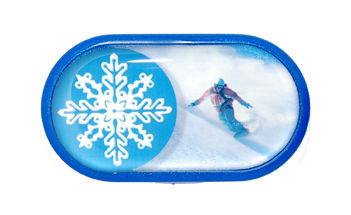 Púzdro so zrkadielkom motív Šport - Snowboard