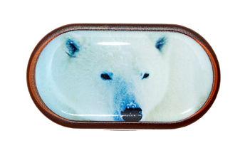 Púzdro so zrkadielkom Divoká zvieratá - Ľadový Medveď