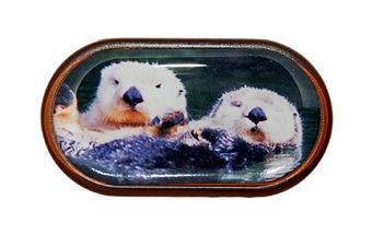 Púzdro so zrkadielkom Divoká zvieratá - Vydry