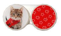 Ozdobné púzdro vianočné - Mačka žíhaná s šálom