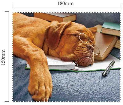 Handričku na okuliare z mikrovlákna - pes
