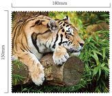 Handričku na okuliare z mikrovlákna - tiger