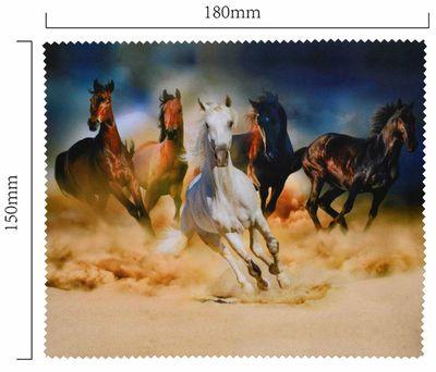 Handričku na okuliare z mikrovlákna - koně