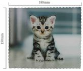 Handričku na okuliare z mikrovlákna - mačiatko sediaci