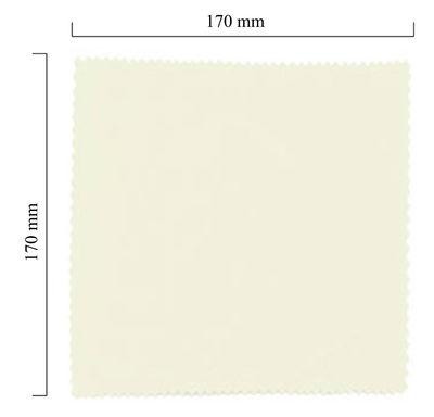 Handričku na okuliare z mikrovlákna jednofarebný - biely 170x170 mm